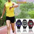Exercise Pulse Heart Rate Monitor Calorie Counter Sports Watch Silver