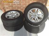 "Genuine Mitsubishi 16"" Alloys with Goodyear 215/70R16 Tyres"