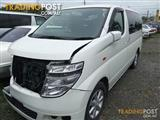 NISSAN E51 ELGRAND ENGINE & GEARBOX ALL BODY PARTS FOR