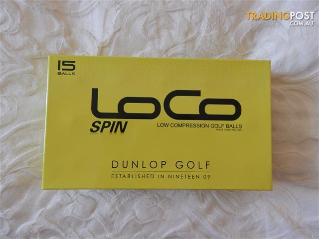 Dunlop Loco Spin golf balls, 60, brand new in boxes