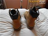 Womens Leather look boots, size 8 US, wheat colour, brand new in box