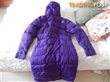 Karrimor long down jacket, womens size 14, brand new with tags, purple