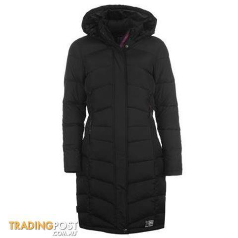 Karrimor long down jacket, womens size 10, brand new, black