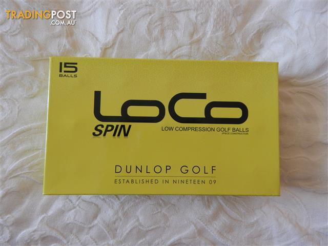 Dunlop Loco Spin golf balls, 30, brand new in boxes