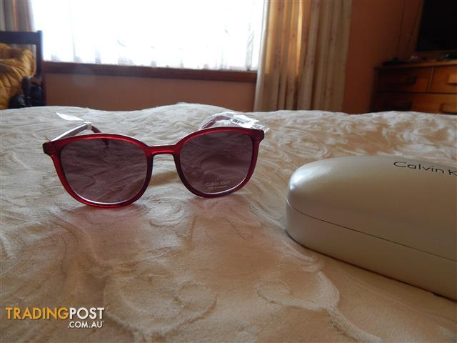 Calvin Klein ladies sunglasses, womens, brand new in box, red