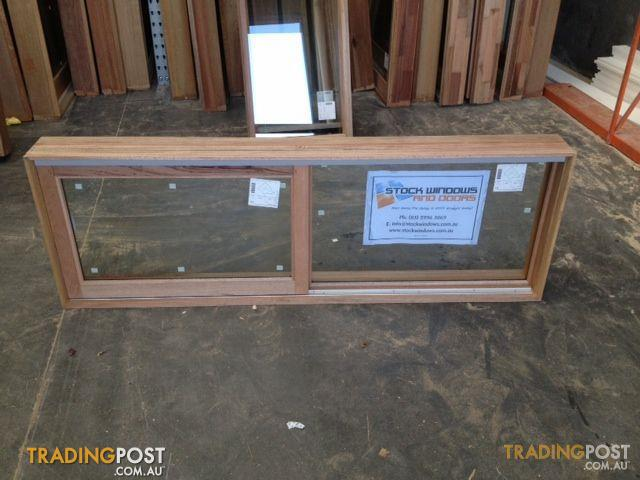 Timber Sliding Window 592h X 1746w Double Glazed For Sale
