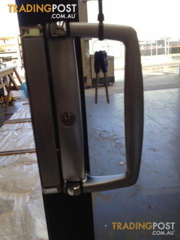 Aluminium Sliding Door 2100h X 3010w Black Quantum