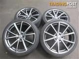 "4 x ""19"" AUDI RS4 B8 STYLE WHEELS FOR AUDI A4 VW GOLF GTI &PASSAT"