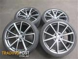 "19"" AUDI RS4 B8 STYLE WHEELS TO SUIT AUDI A4 VW GOLF GTI & PASSAT"