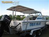 Savage bluefin 25ft fibreglass fishing boat Mercury 225 & Trailer