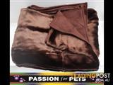 XWX2 Plush Pet Throw Rugs - 2 Colours  - Brown & Champagne $30 each or 2 for $50