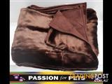 XWX2 Plush Pet Throw Rugs - 2 Colours  - Brown & Champagne $20 each or 2 for $35