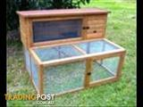 Hutches - Bono Fido K107B Rabbit Hutch Timber double story w/ run