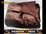 XWX2 Plush Pet Throw Rugs - 2 Colours  - Brown & Champagne $15 each