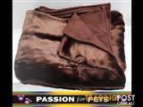 XWX2 Plush Pet Throw Rugs - 2 Colours  - Brown & Champagne $15 each