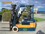Forklift TOYOTA Battery/Electric 1.5t 3 Wheeler with Container Mast and  **LOW HOURS**