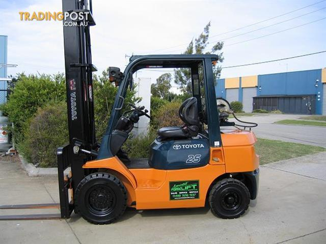 forklift lpg toyota 42 7fg25 5 00 mtr lift for in carrum 10 600 00