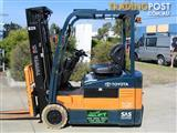 "FORKLIFT TOYOTA 1.5 t Battery/Electric with Container Mast and  ""LOW HOURS"""