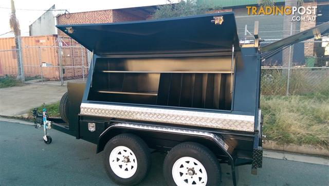 8X5 Custom Deluxe Builders Trailer Slide Out Draws Color Options