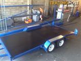 PHOENIX TRAILERS 15 FT TILT CAR TRAILER CAR CARRIER FLAT BED TILT !