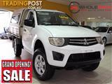 2010 Mitsubishi Triton MN MY10 GLX Cab Chassis Single Cab 2dr Man 5sp 1215kg 2.5DT MN MY10 Cab Chassis