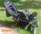 As new, excellent condition tandem pram