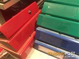 VGC. 10 x Bantex Red/Blue/Black/Green binders - (USED)