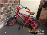 Southern Star boys bike with training wheels