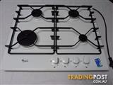 Gas Cooktop 4 Burner Whirlpool AKT616WH