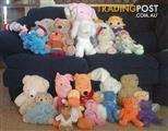 Soft Toys, over 40, popular characters. Plus 3 x framed toy pictures.