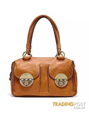 BNWT Mimco Large Turnlock Bag Honey