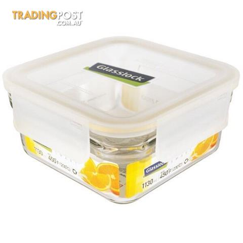 BN Glasslock Rimless 1130ml Tempered Glass Food Container