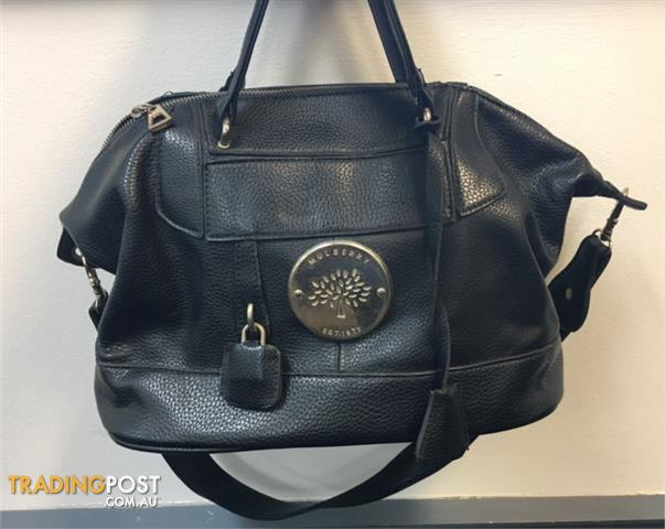 Mulberry Black Leather Tote Handbag
