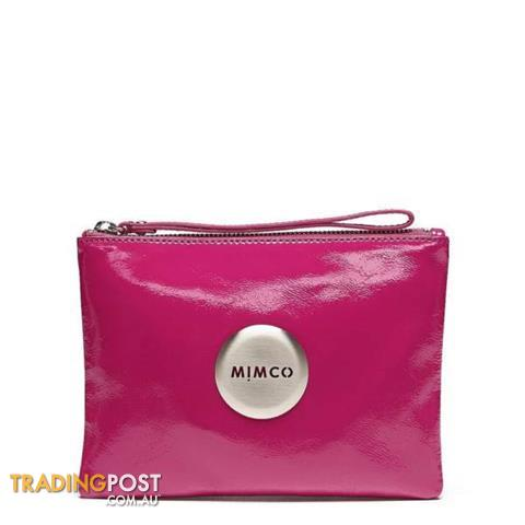 Genuine Mimco Schiaparelli Pink Patent Leather Medium Pouch BNWT