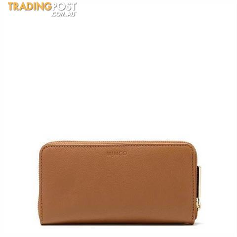 Mimco Supernatural Leather Zip Wallet Honey BNWT