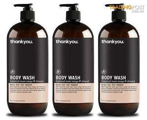 Thankyou Botanical Sweet Orange & Almond Body Wash 1L