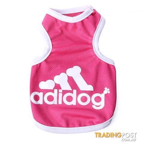 Dog Hoodies Jumpers Singlets Adidog Logo