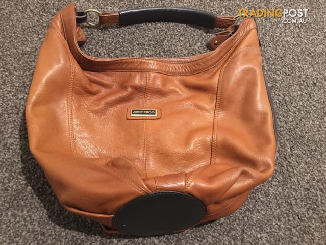 Jimmy Choo Inspired Brown Leather Bucket Handbag