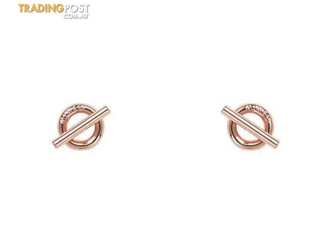 Mimco The Go To Stud Earrings Rose Gold BNWT
