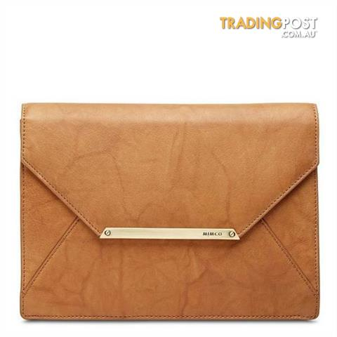 Mimco Origami Envelope Clutch Large in Honey Colour