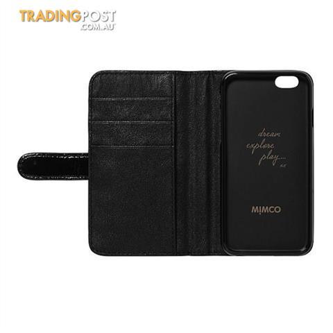 Mimco Iphone 7 or 7 Plus & 6 or 6 Plus Flip Cases Black BNWT