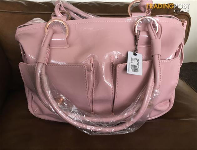 BNWT Mimco Blossom Pink Large Turnlock Bag