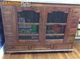 Solid mahogany wood  cabinet - large