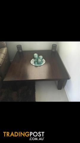 Solid square coffee table
