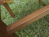4 x Dining Chairs Freshly Upholstered Seats Natural Strong Solid Timber Frame
