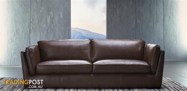 Brand New Nick Scali Leather 3 Seater Couch Rrp 3990 Negotiable
