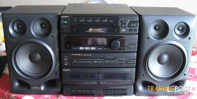 sony fh cx45 mini stereo system am fm cd player dual cassette. Black Bedroom Furniture Sets. Home Design Ideas
