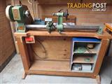 Wood turning lathe and stand