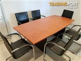 Meeting Room Table With 6 Chairs
