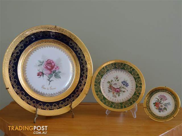 Vintage French Limoges Porcelain Plates Collection